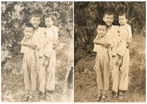 Stará fotografie úprava renovace